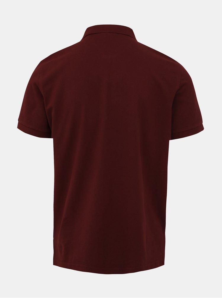 Vínové pánské polo tričko GANT