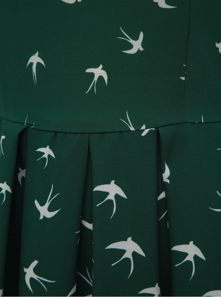 Zelené vzorované šaty Dolly & Dotty Annie