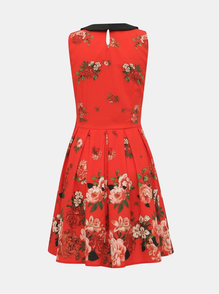 Červené květované šaty Dolly & Dotty Anette