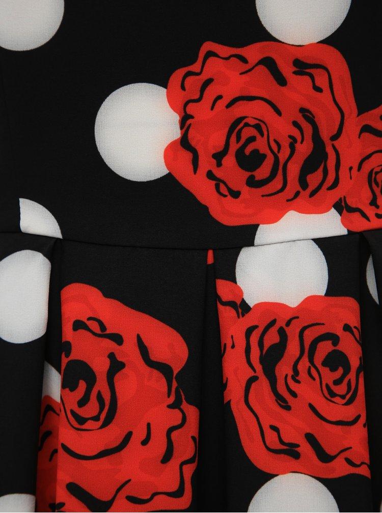 Černé vzorované šaty Dolly & Dotty Annie