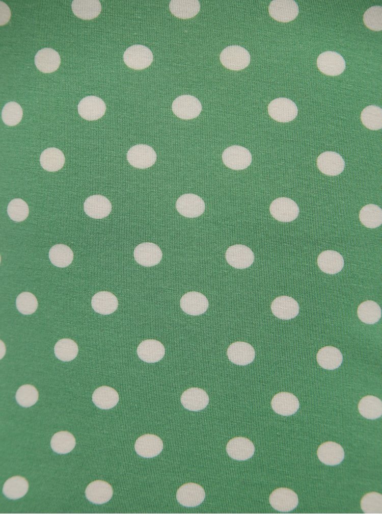 Zelené puntíkované tričko Dolly & Dotty Gina