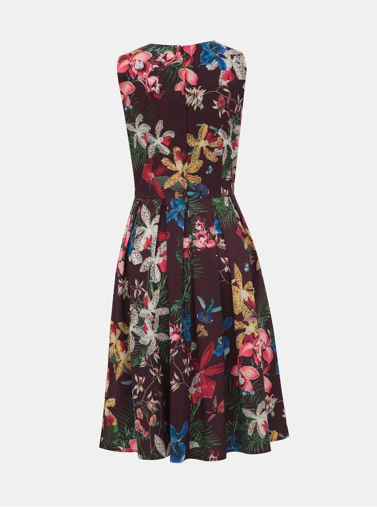 Vínové kvetované šaty Dolly & Dotty Annie