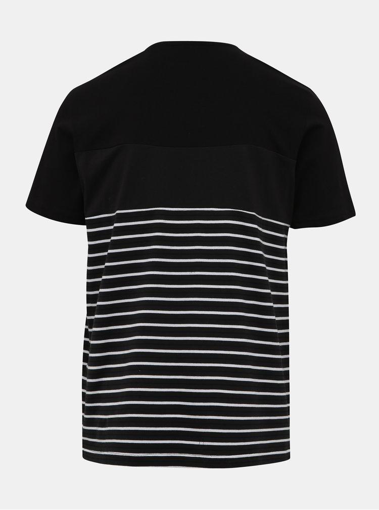 Černé pruhované tričko ONLY & SONS Balin