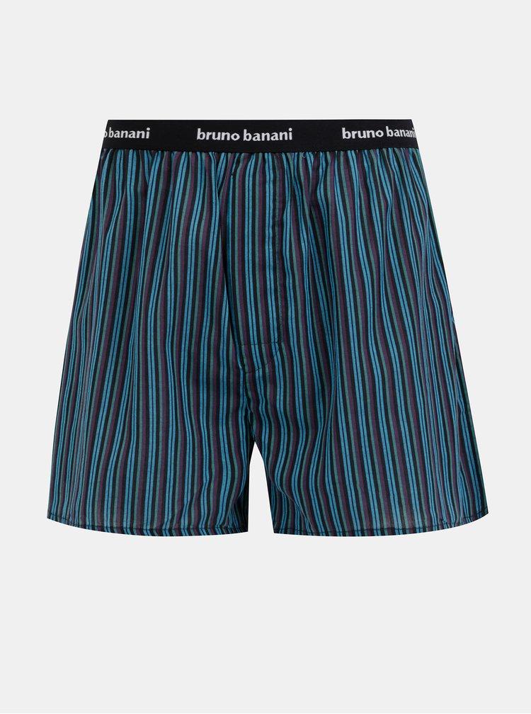 Čierno-modré pruhované trenýrky Bruno Banani