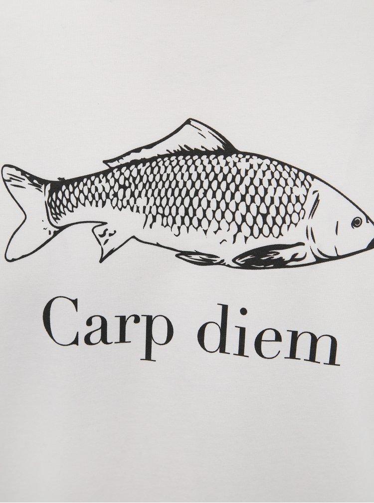 Biele pánske tričko s potlačou ZOOT Original Capr Diem