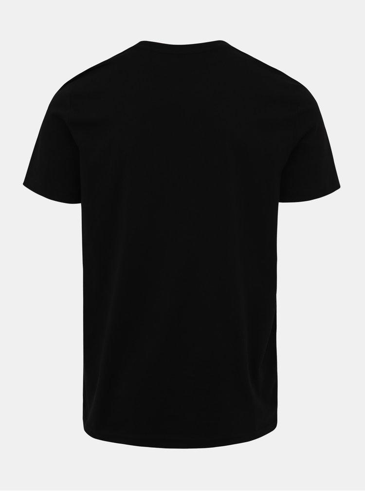 Čierne pánske tričko s potlačou ZOOT Original Kalorie