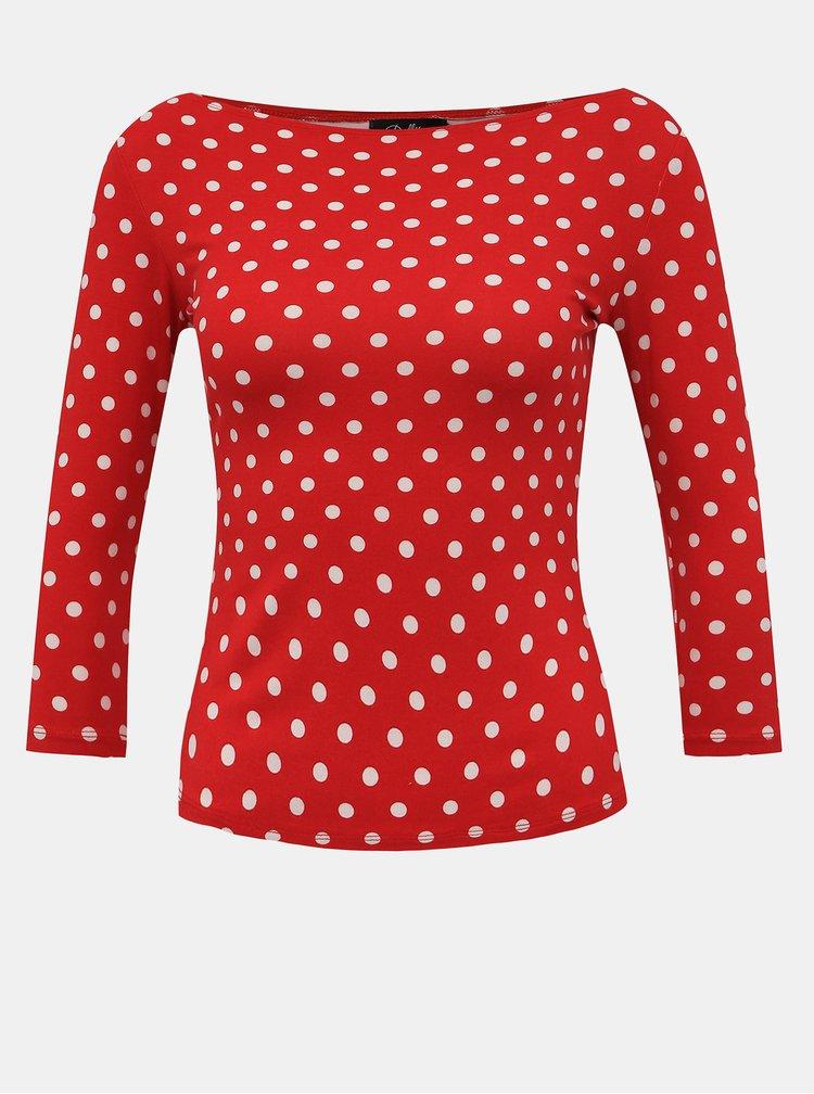 Červené bodkované tričko Dolly & Dotty Donna