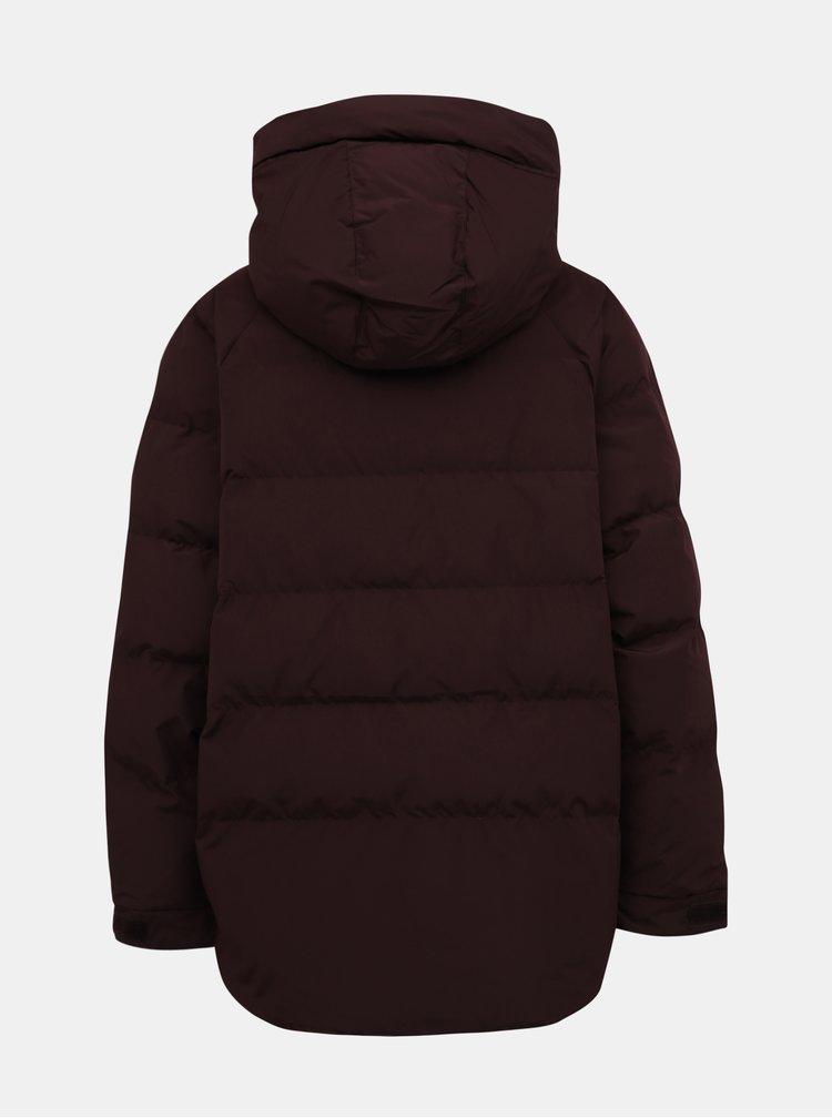 Vínová dámska vodeodpudivá zimná bunda Makia Lumi
