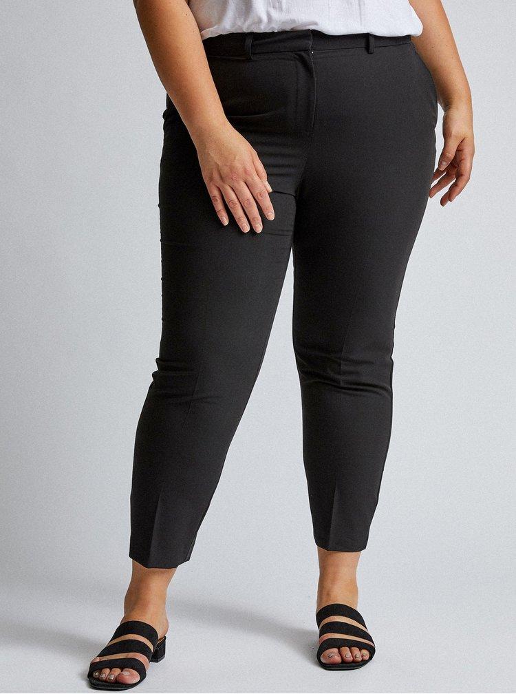 Černé zkrácené kalhoty Dorothy Perkins Curve
