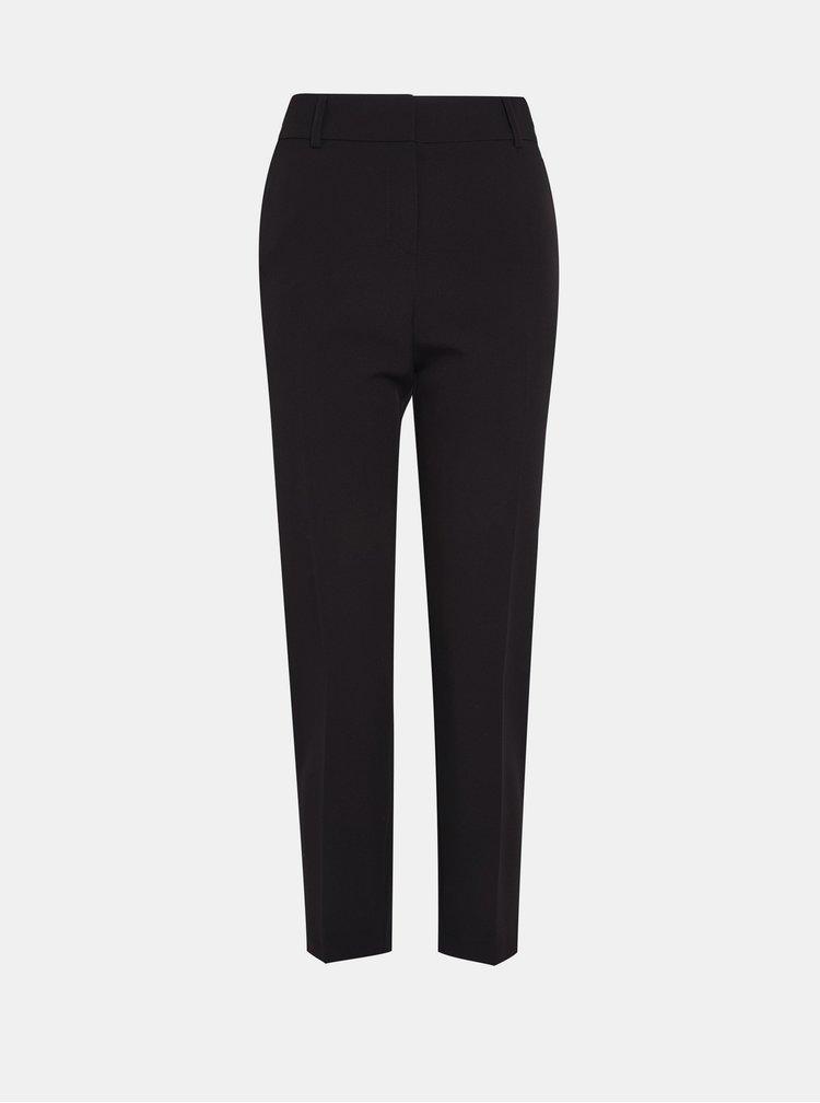 Čierne skrátené nohavice s pásom Dorothy Perkins