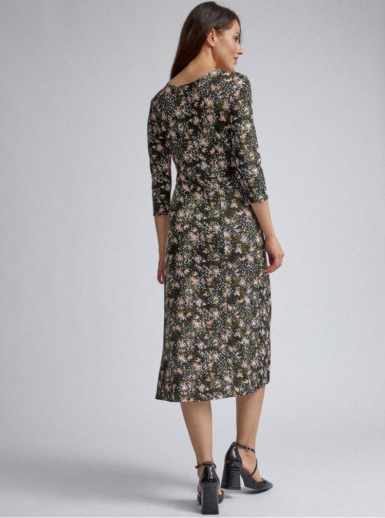 Khaki vzorované šaty Dorothy Perkins