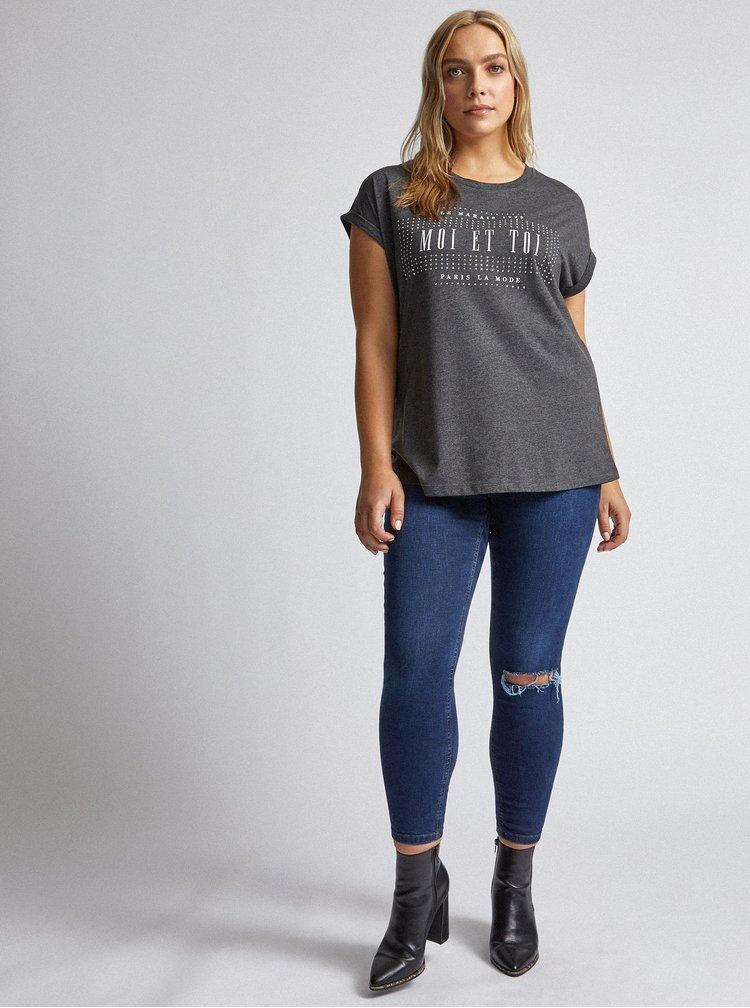 Šedé tričko Dorothy Perkins Curve