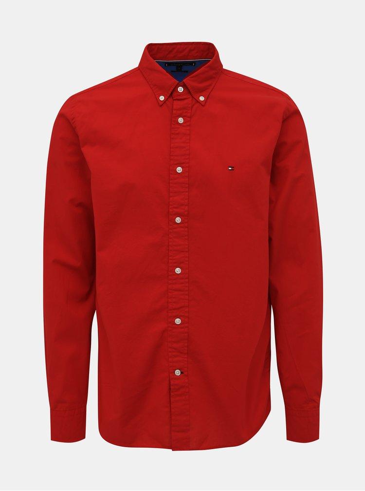 Červená pánská regular fit košile Tommy Hilfiger Classic