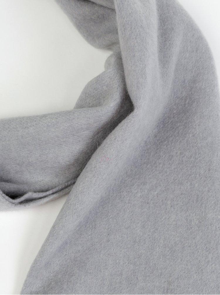 Šedá vlněná šála Calvin Klein Jeans