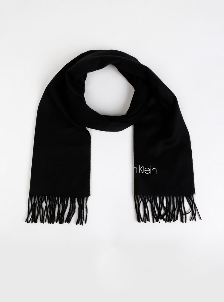 Černá vlněná šála Calvin Klein Jeans