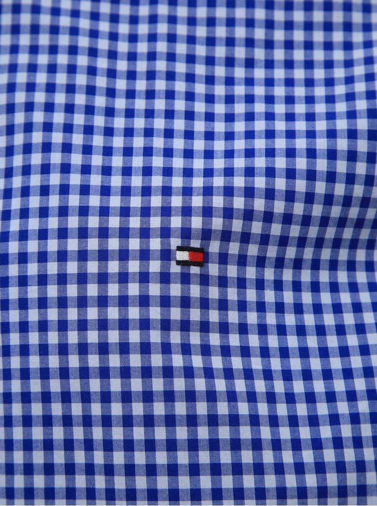 Modrá pánská kostkovaná regular fit košile Tommy Hilfiger Classic
