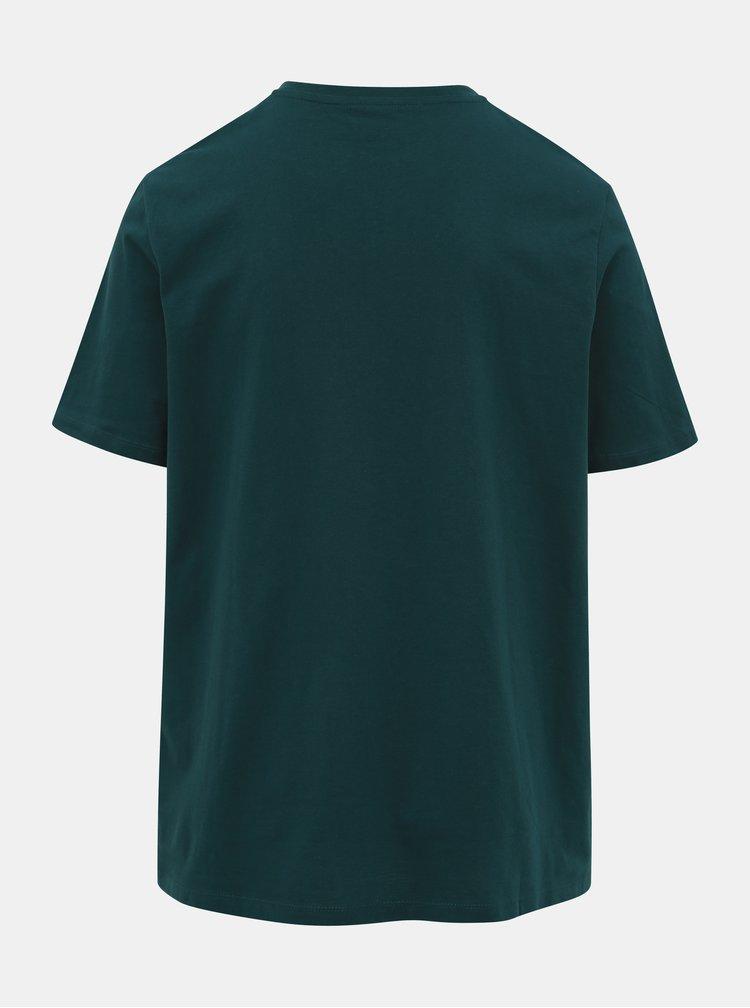 Tmavě zelené tričko s potiskem Jack & Jones Nebraska