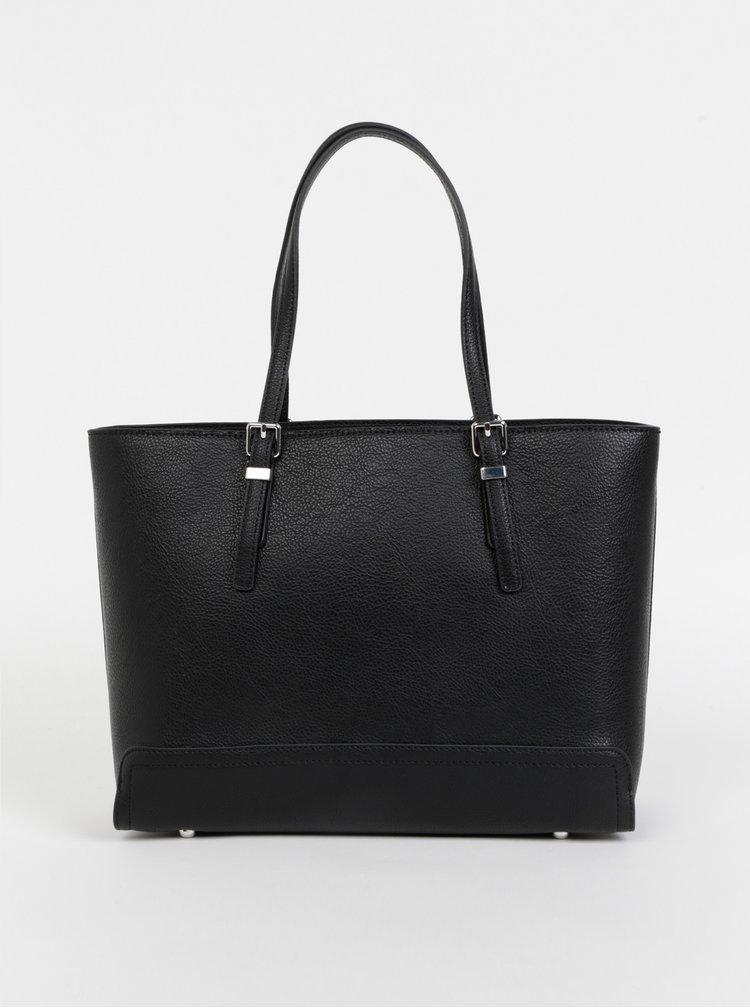 Černá kabelka s pouzdrem na notebook 2v1 Tommy Hilfiger