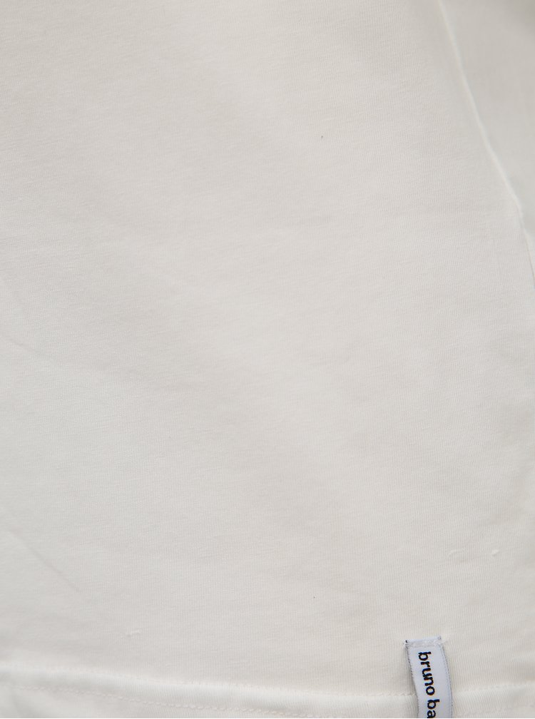 Bílé basic tričko Bruno Banani