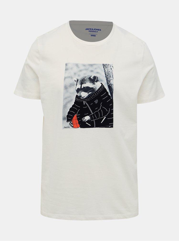 Bílé tričko Jack & Jones Olle