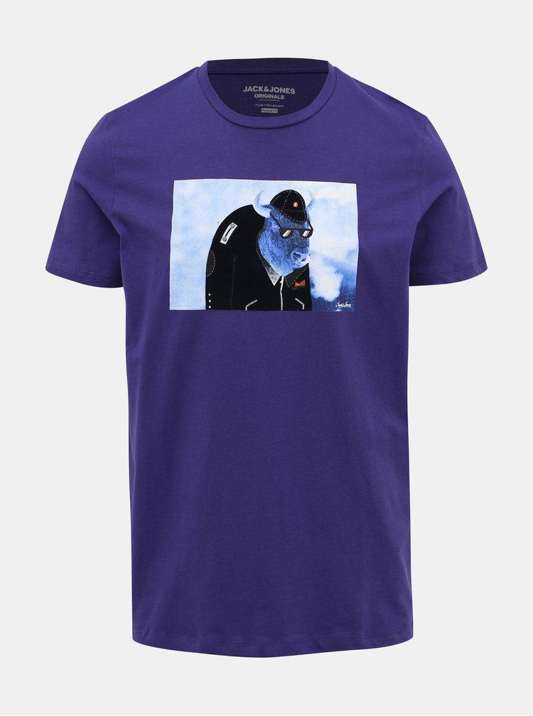 Fialové tričko Jack & Jones Olle