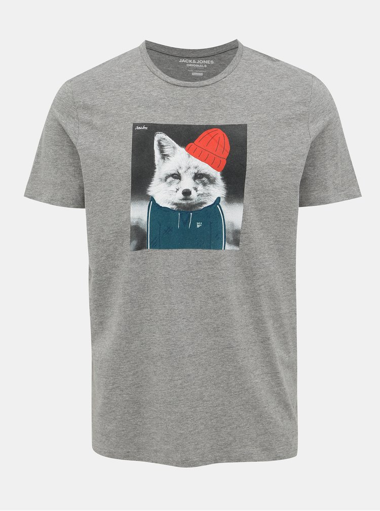 Šedé tričko Jack & Jones Olle