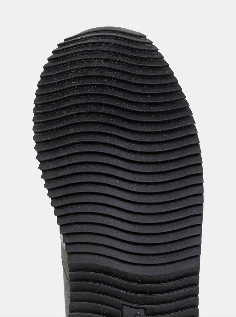 Čierne dámske tenisky s detailmi v semišovej úprav U.S. Polo Assn. Alfea Club