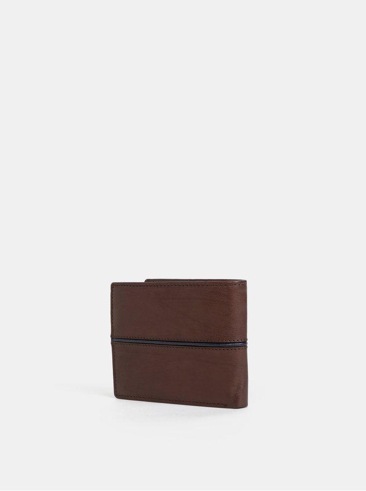 Tmavě hnědá pánská kožená peněženka U.S. Polo Assn. Little Elm