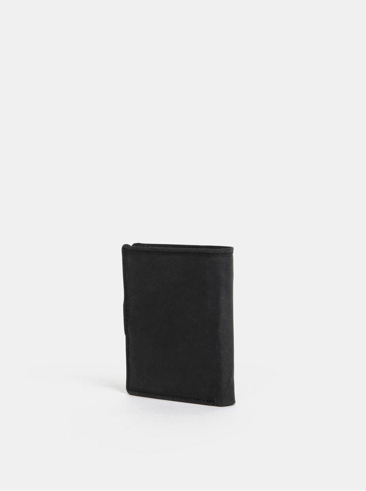 Černá pánská kožená peněženka U.S. Polo Assn. Tulsa