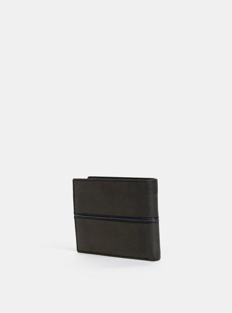 Černá pánská kožená peněženka U.S. Polo Assn. Little Elm
