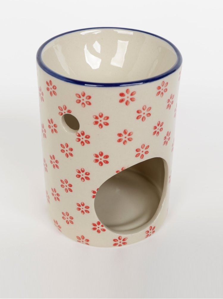 Krémová květovaná aromalampa Tranquillo Marie