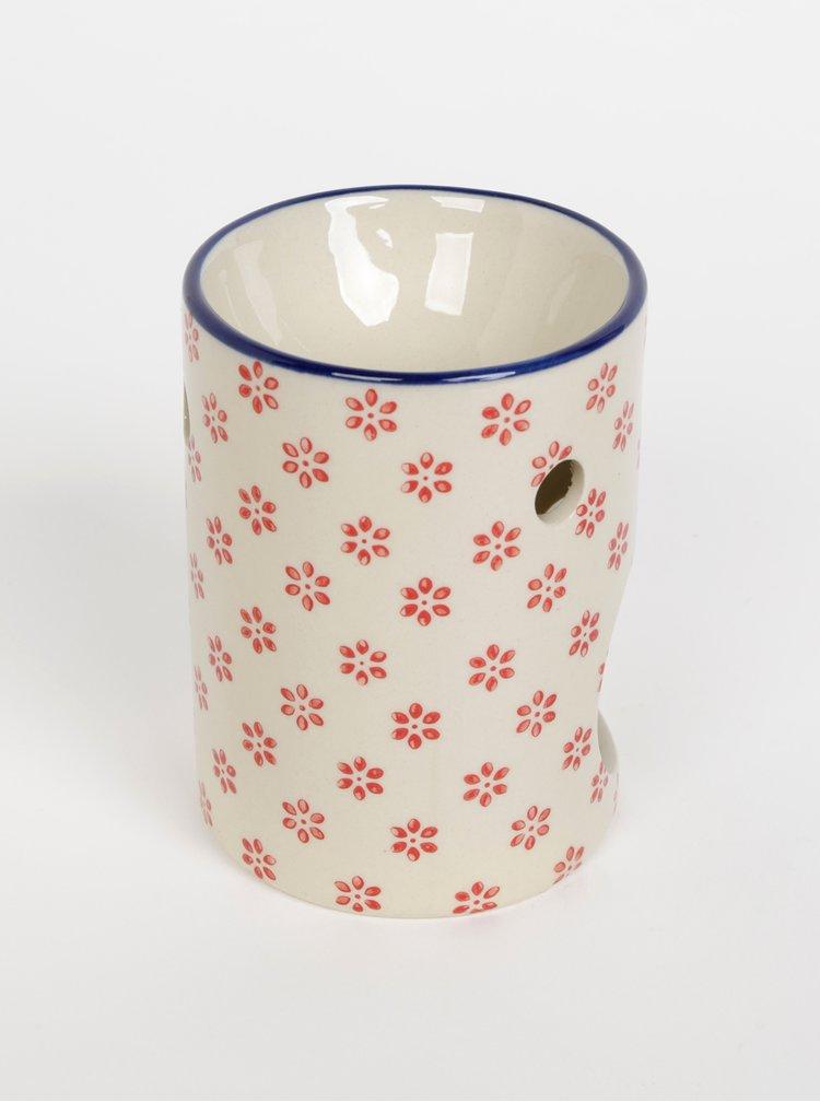 Krémová květovaná aromalampa Tranquillo Home Marie