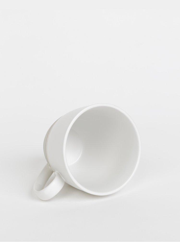 Krémovo-bílý pruhovaný hrnek Tranquillo Berta 500 ml