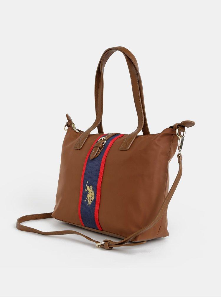 Hnedá kabelka U.S. Polo Assn. Patterson