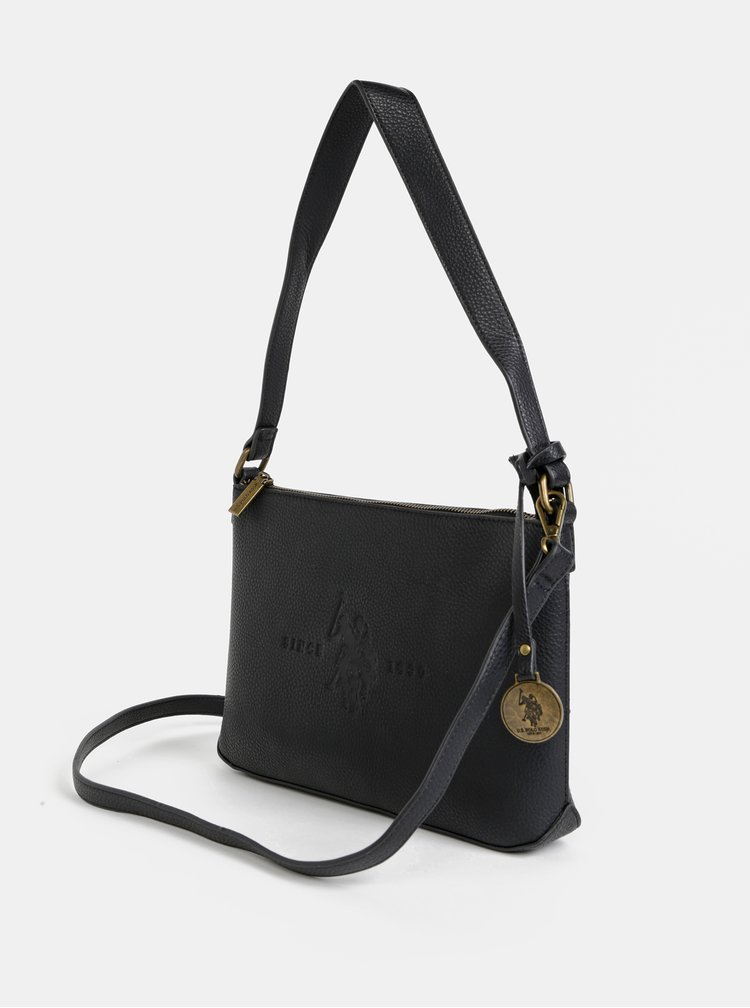 Čierna crossbody kabelka U.S. Polo Assn. Crestwood