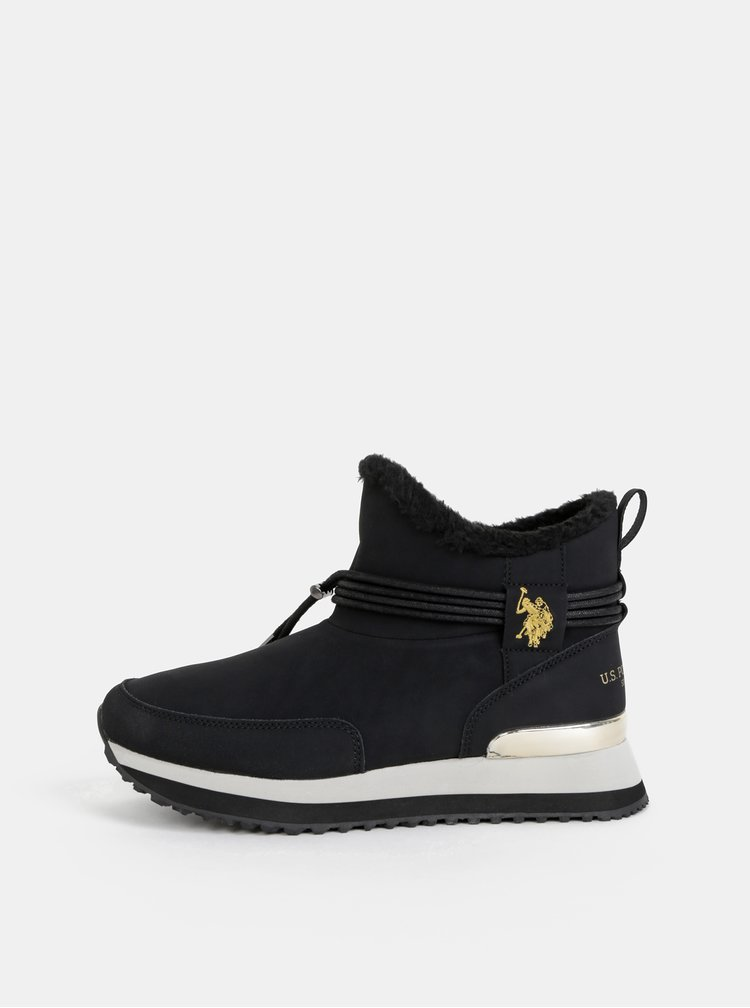 Černé dámské zimní kotníkové boty U.S. Polo Assn. Vanessa