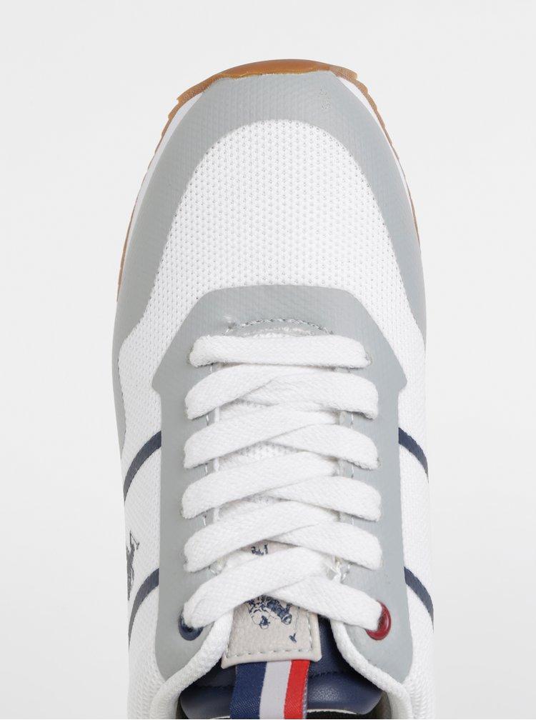 Šedo-biele dámske tenisky U.S. Polo Assn. Ambra