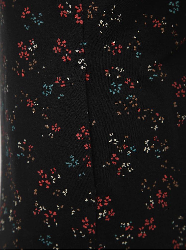 Čierne vzorované mikinové šaty Ragwear Menita Flowers