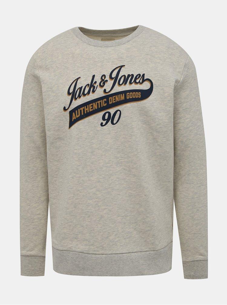 Šedá mikina Jack & Jones Logo