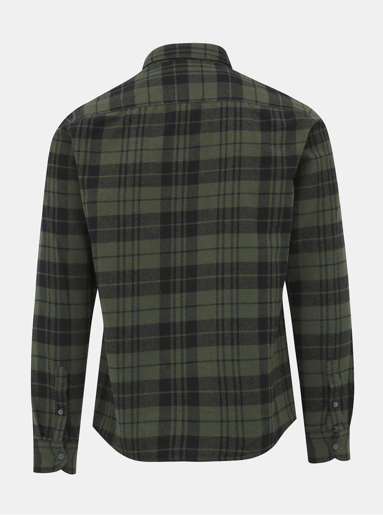 Tmavozelená flanelová kockovaná košeľa ONLY & SONS Gustauv