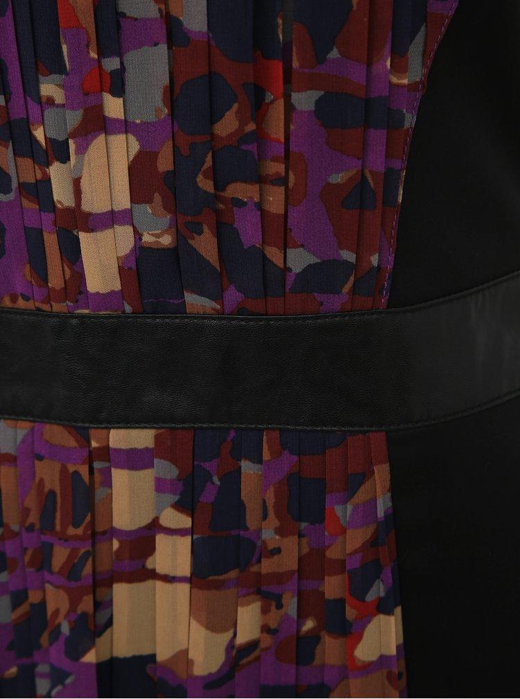 Fialovo-čierne púzdrové šaty s.Oliver