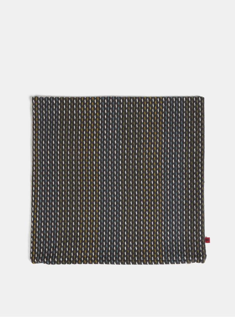 Tmavě šedý vzorovaný povlak na polštář Tranquillo Jörg