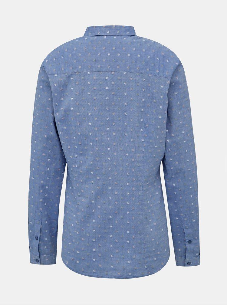 Světle modrá dámská puntíkovaná košile s.Oliver