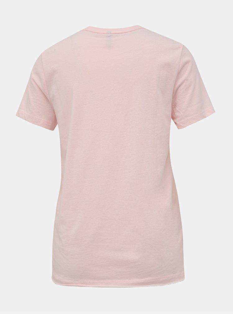 Svetloružové tričko s potlačou ONLY