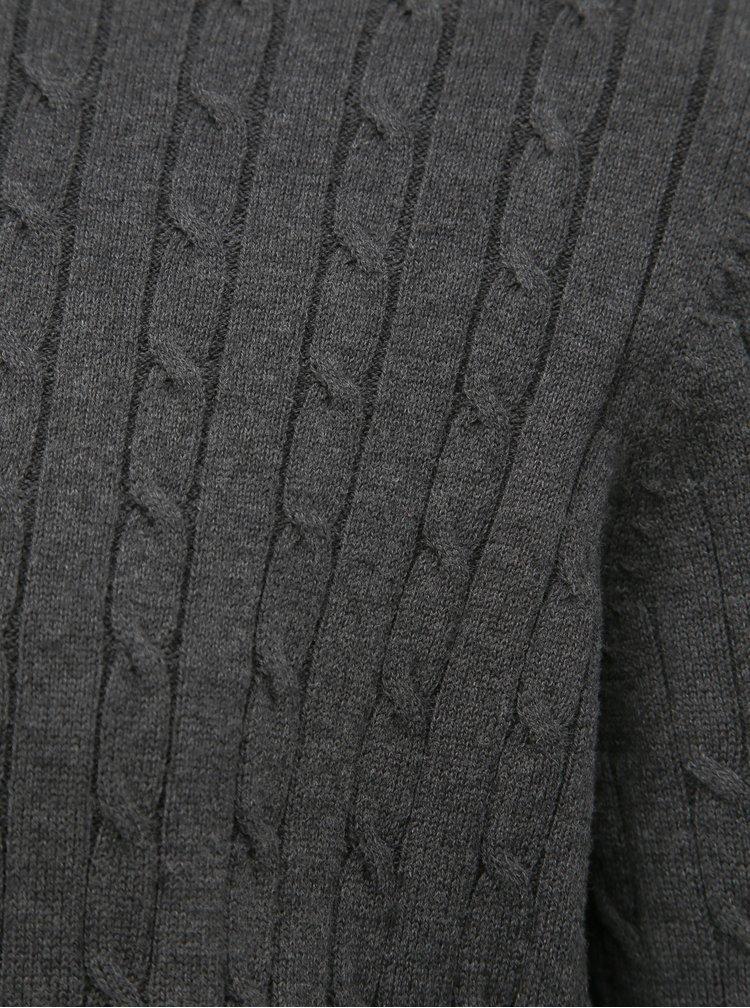 Tmavě šedý svetr Selected Homme Clayton