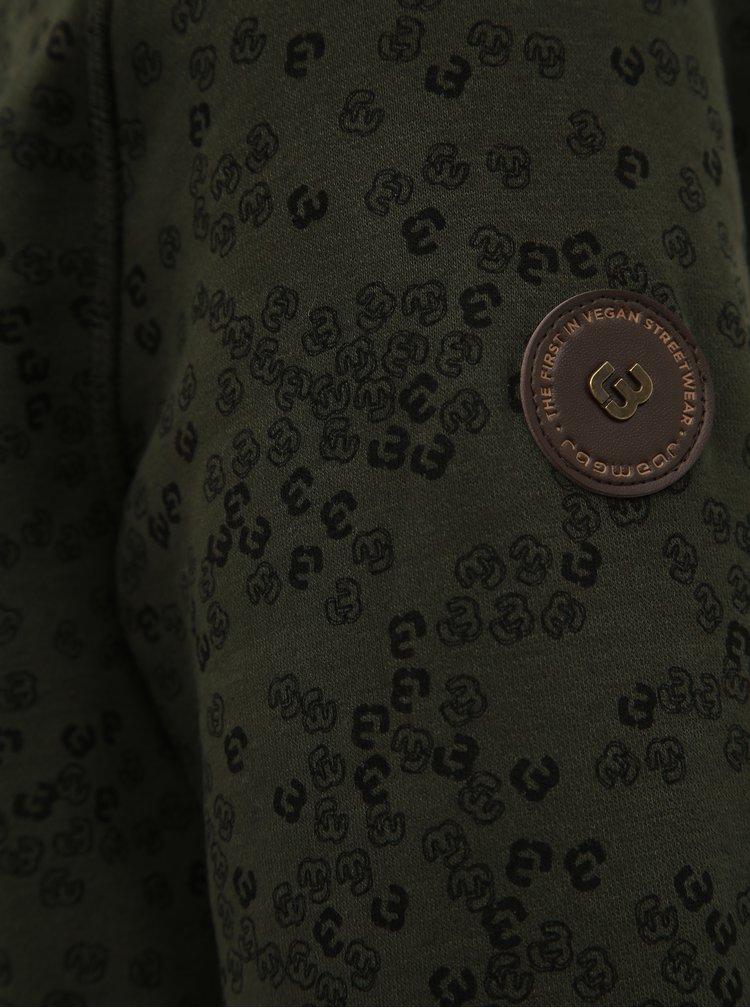 Tmavozelená pánska vzorovaná mikina Ragwear Indie
