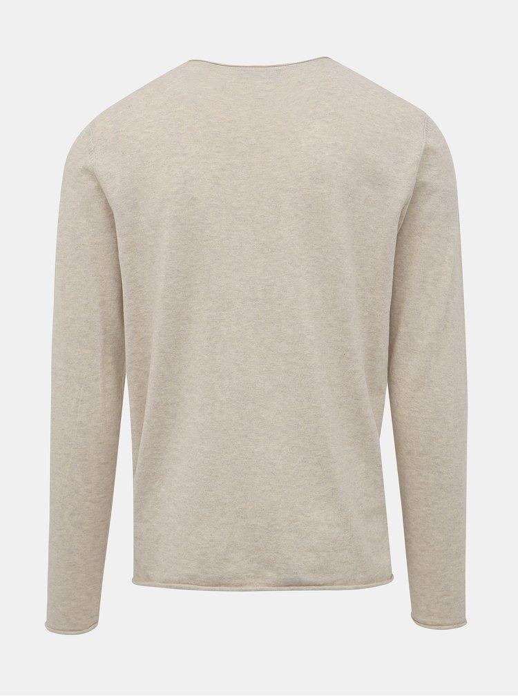 Béžový svetr Selected Homme