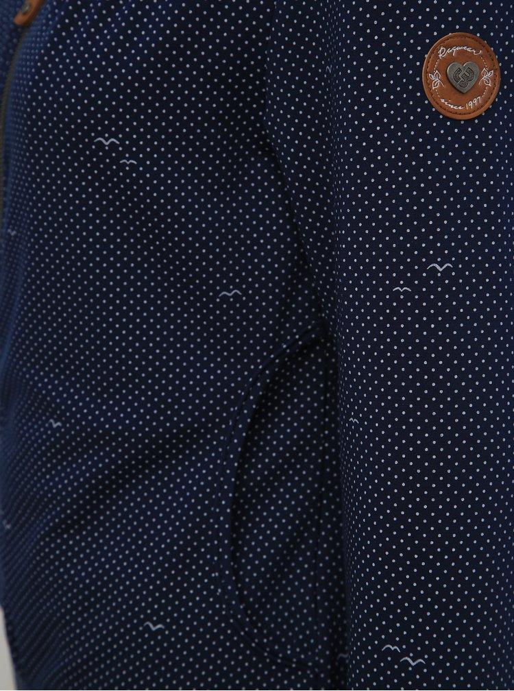Tmavomodrá dámska bodkovaná mikina Ragwear Kenia