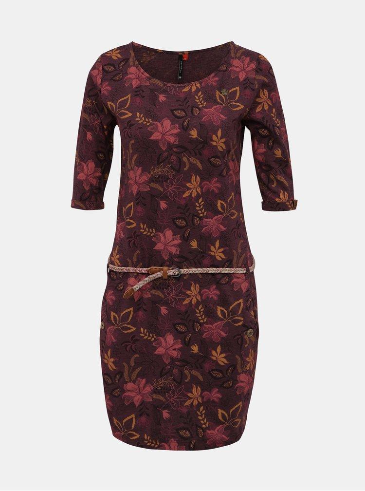 Fialové kvetované šaty Ragwear Tanya
