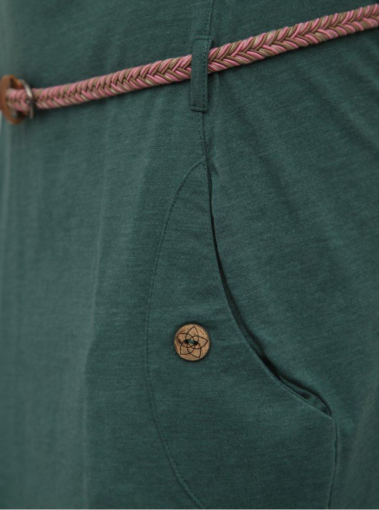 Zelené šaty s opaskom Ragwear Tanya